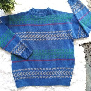 Pendleton Vintage 100% wool blue/green sweater